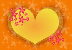 Yellow heart Stock Photos