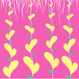 Yellow heart with lace Royalty Free Stock Photography