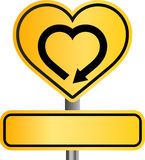 Yellow heart sign Stock Image