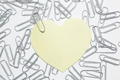 Yellow heart sticker Royalty Free Stock Photo