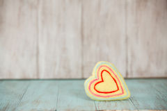 Yellow Heart For Valentines Day Royalty Free Stock Photo