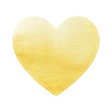 Yellow heart on white background Royalty Free Stock Photo