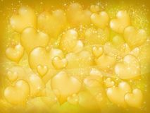 Yellow hearts Royalty Free Stock Photos