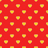 Yellow and red hearts patten Stock Image