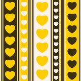 Yellow hearts and strips Royalty Free Stock Image