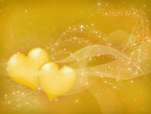 Yellow hearts Royalty Free Stock Photo