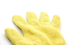 Yellow Heat Glove Royalty Free Stock Photo
