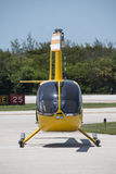 Yellow Helicopter Stock Photo