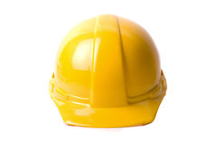 Yellow helmet Stock Images
