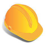 Yellow Helmet. Vector art for a graphic yellow helmet - clip art Royalty Free Stock Image