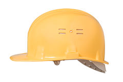Yellow helmet Stock Photo