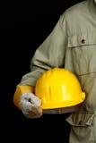 Yellow helmet Stock Photos