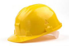 Yellow helmet Stock Photography