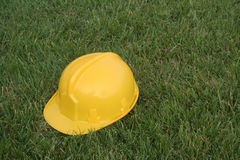 Yellow helmet. Yellow safety hat stock image