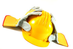 Yellow helmet Royalty Free Stock Photography