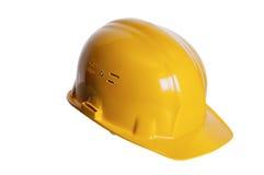Yellow helmet of the builder Royalty Free Stock Photos