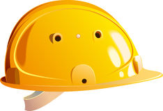 Yellow helmet builder Stock Images