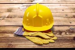 Yellow Helmet Royalty Free Stock Photos
