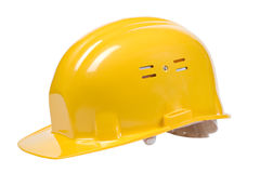 Yellow helmet isolated Stock Photos