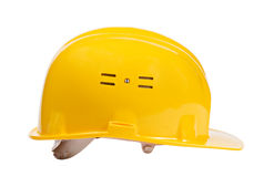 Yellow helmet isolated Royalty Free Stock Image