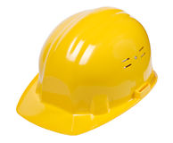 Yellow helmet isolated Royalty Free Stock Images