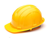 Yellow helmet isolated Royalty Free Stock Photo