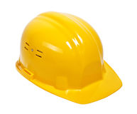 Yellow helmet on white Royalty Free Stock Photos