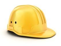 Yellow helmet worker Royalty Free Stock Image