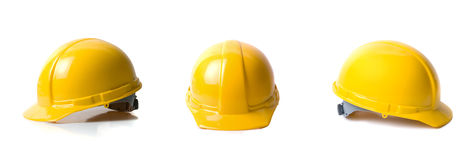 Yellow helmets set Royalty Free Stock Images