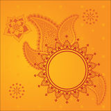 Yellow Henna Background Stock Images