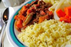 Yellow herb rice Stock Photo