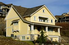 Yellow Heritage House. New yellow heritage designed home Royalty Free Stock Image