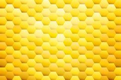Yellow hexagon abstract background, honeycombs background. Eps 10 Vector Illustration