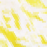 Yellow hexagon background Stock Image