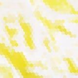Yellow hexagon background Stock Image