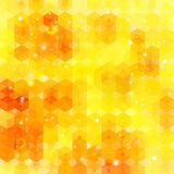 Yellow hexagon background. Vector image Stock Photo