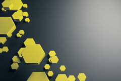 Yellow hexagon pattern background Royalty Free Stock Photography