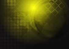 Yellow hi-tech vector background Stock Image