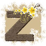Yellow hibiscus alphabet Z Stock Photography
