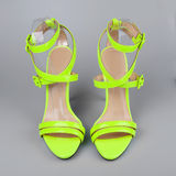 Yellow high heels shoes Stock Photos