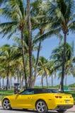 Yellow high tech Chevrolet Camaro SS convertible Royalty Free Stock Photo