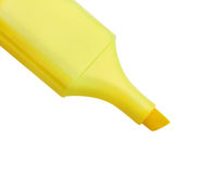 Yellow highlighter isolated on white Royalty Free Stock Photography