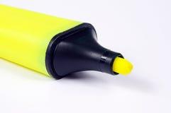 Yellow highlighter pen. Stock Photography