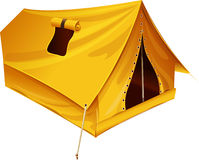 Yellow hike tent Royalty Free Stock Image