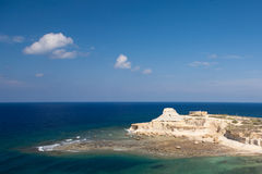 Yellow hill on Gozo, Malta Stock Images