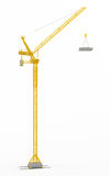 Yellow hoisting crane Royalty Free Stock Photos