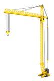 Yellow Hoisting Crane Stock Photos