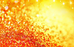 Yellow holeday glitter background Royalty Free Stock Photography