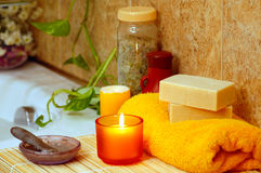 Yellow home spa Stock Image