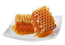 Yellow honeycomb Royalty Free Stock Photo